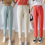 Casual Long Ankle Length Trousers Plus Size