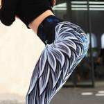 Leggings Angel wings printed High waist elastic Slim