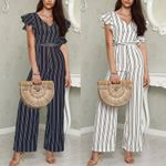 Sexy Casual V Neck Loose Playsuit Jumpsuits Bodysuits