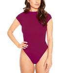 Casual Bodycon Bodysuits Skinny Solid Color Short