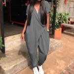 Casual Jumpsuits Plus Size Overalls Fashion Harem Pants