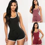 Short Romper Jumpsuit Sleeveless Beach Clubwear