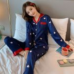 Party New Silk Long Sleeve Pajamas Set Loose