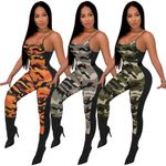 jumpsuits Sexy Backless Camouflage Fashion Casual