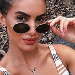 Fashion Sunglasses Metal Small Oval
