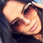 Luxury Vintage Rimless sunglasses