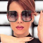 NEW Oversized Square Sunglasses Luxury Brand
