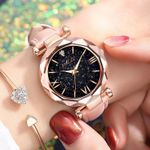 Casual Leather Watch Quartz Wrist Watch Starry