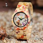 Wood Watch montre Bamboo Band Painting