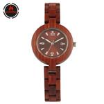 Red Wooden Watch Elegant Fashion Watches