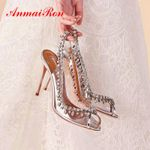 Luxury Designers Elegant Peep Toe Wedding Shoes