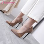 new single shoes black pointed high heels