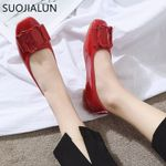 Shoes Woman PU Leather Flat Shoes Casual Slip On
