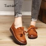 Lace-up Loafers Casual Flat Shoe Pregnant