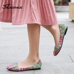 Flats Round Toe Fashion Slip On Flat Shoes