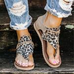 Sandals Leopard Print Shoes plus Size