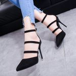 Super High Heels  Sandals Pointed Toe Suede Thin