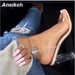 Sandals Plus Size  Transparent High Heels Shoes