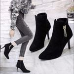 Ankle Boots Shoes Fashion High-heeled