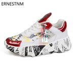 NEW Sneakers Platform Shoes Sequined Casual