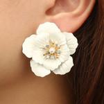 Fashion Jewelry Boho Painting Big Flowers