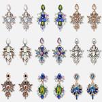 Brand Fashion Big Flower Crystal Drop