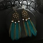 Beautiful Earrings Feather Round Dream Catcher