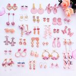Ins Super Cute Pink Series Earrings Sweet