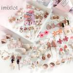 Korean Cute Heart Pink Earrings Princess Bow Drop