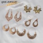 Silver Gold Color Bohemian Filigree Earrings