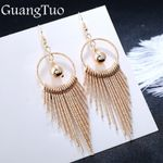 American Exaggerate Big Round Swing Earrings