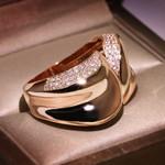 Charm Geometric Finger Ring Unique Style Rose