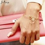 Trendy Tie Knotted Open Cuff Bangle Rose Gold Sliver