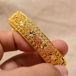 Gold Color Bangle Ethiopia Dubai Arab Bangles