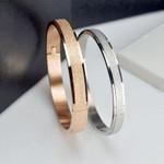 Simple Rose Gold Punk Luxury Love Bracelets Bangles