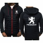 Hoodies  Peugeot Car Logo Print Casual Long Sleeve