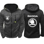 Hoodies Skoda Car Logo Print Casual Hip Hop