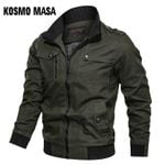 Cotton Bomber Jacket Windbreaker Army Military