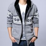 Fashion Thick Sweater Cardigan Casual Knitted Sweater