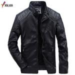 New Spring Vintage Leather Jacket Fashion