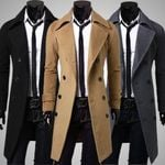 Fashion Trench Coat Warm Thicken Jacket
