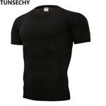 Fashion Brand tight pure color T-shirts Spandex