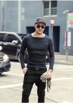 knitted sweater o-neck warm bottoming pullovers