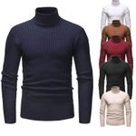 New Sweater Turtleneck Solid Color Casual