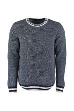 Trendyol Navy Blue  Bike Collar Sweater