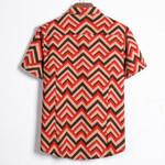 Shirts Short Sleeve Shirt Casual Ethnic Printing Blouse