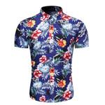 Fashion Flower Shirt Print Shirts Slim Fit
