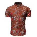 Hawaiian Shirt Slim Fit Shirt Fashion Floral