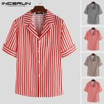 Fashion Striped Dress Shirt Casual Lapel