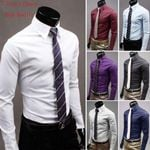 Stylish Suit Shirt Slim New Shirts Long Sleeve
